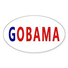 Red/Blue GOBAMA Oval Decal