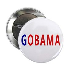 "Red/Blue GOBAMA 2.25"" Button"