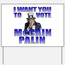 McCain Palin Uncle Sam Yard Sign