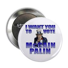 "McCain Palin Uncle Sam 2.25"" Button"