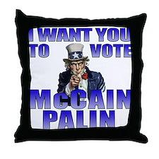 McCain Palin Uncle Sam Throw Pillow