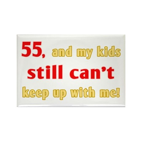 Witty 55th Birthday Rectangle Magnet (100 pack)