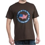 McCain Palin Land of the Free Dark T-Shirt
