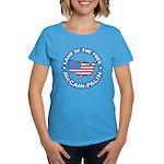 McCain Palin Land of the Free Women's Dark T-Shirt