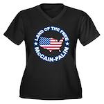 McCain Palin Land of the Free Women's Plus Size V-