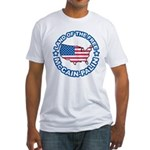 McCain Palin Land of the Free Fitted T-Shirt