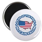 McCain Palin Land of the Free Magnet
