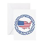 McCain Palin Land of the Free Greeting Card