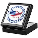 McCain Palin Land of the Free Keepsake Box