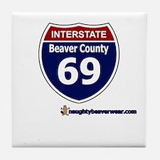 Interstate 69 Beaver County Tile Coaster