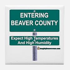 Entering Beaver County Tile Coaster