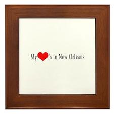 My Heart's in New Orleans Framed Tile