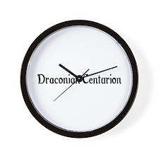 Draconian Centurion Wall Clock