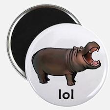 "Lol hippo 2.25"" Magnet (100 pack)"