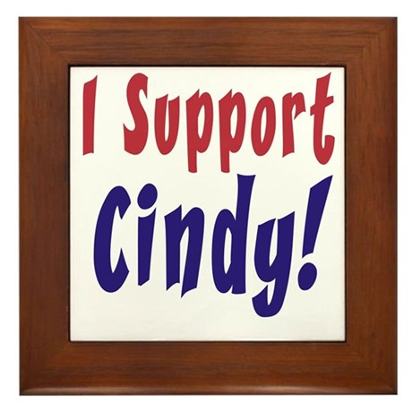 Support Cindy Sheehan Framed Tile