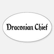 Draconian Chief Oval Decal