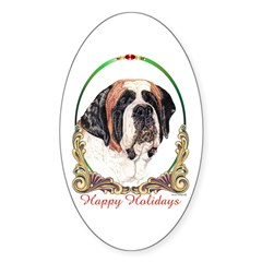 St Bernard Holiday Oval Decal