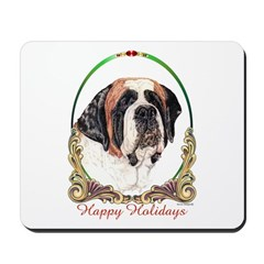 St Bernard Holiday Mousepad