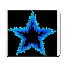 Blue Flame Star Fire Mousepad
