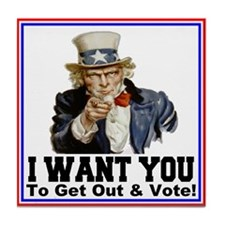 To Get Out And Vote Tile Coaster