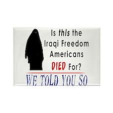 Iraqi Freedom? Rectangle Magnet