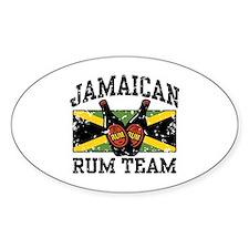 Jamaican Rum Team Oval Decal