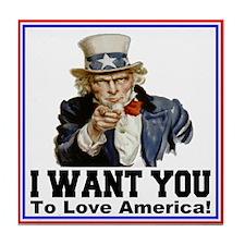 To Love America Tile Coaster