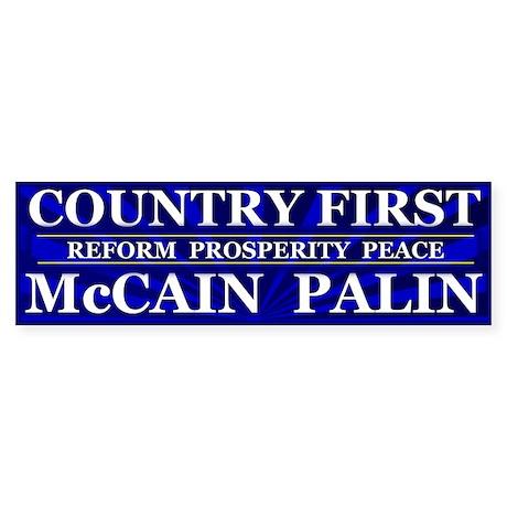 Country First Bumper Sticker (50 pk)