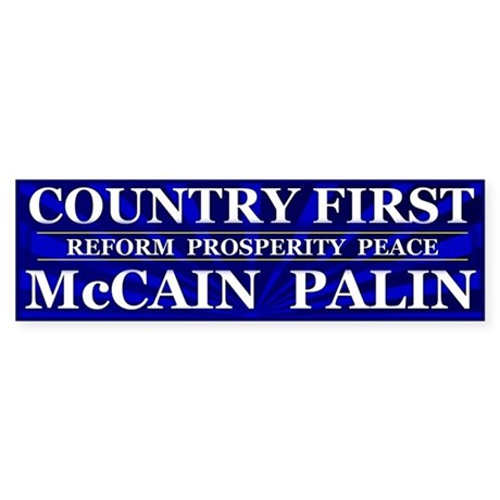 Country First Bumper Sticker (10 pk)