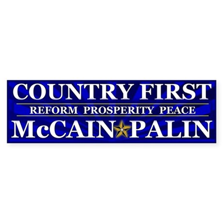 Country First Bumper Sticker