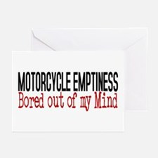 MOTORCYCLE EMPTINESS Bor Greeting Cards (Pk of 10)