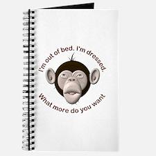 Monkey Awake & Dressed Journal