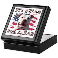 Pit Bulls for Sarah Keepsake Box