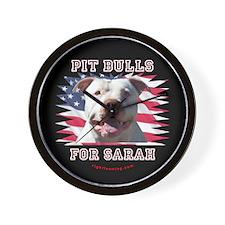 Pit Bulls for Sarah Wall Clock
