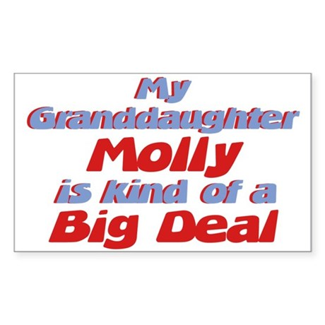 Granddaughter Molly - Big Dea Rectangle Sticker
