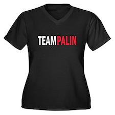 Palin Women's Plus Size V-Neck Dark T-Shirt