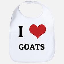 I Love Goats Bib