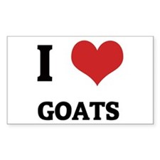 I Love Goats Rectangle Decal