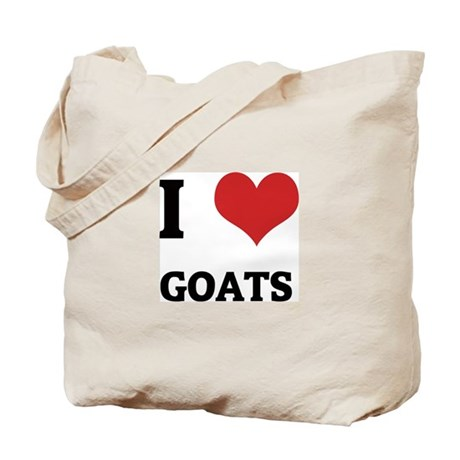 I Love Goats Tote Bag