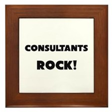 Consultants ROCK Framed Tile