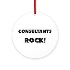 Consultants ROCK Ornament (Round)