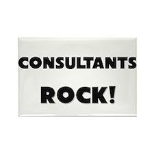 Consultants ROCK Rectangle Magnet