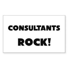 Consultants ROCK Rectangle Decal
