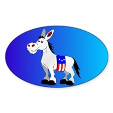 Democrat Donkey Oval Decal