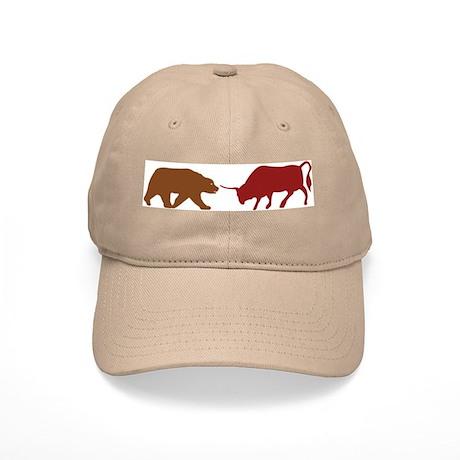 Bull and Bear Silhouette Cap