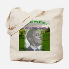 Obama, Go Green Tote Bag