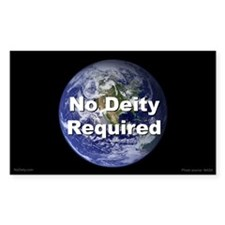 """No Deity Required"" Rectangle Decal"