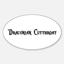 Draconian Cutthroat Oval Decal