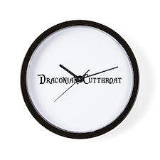 Draconian Cutthroat Wall Clock