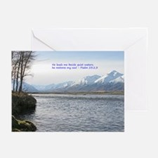 He restores my soul Greeting Cards (Pk of 20)